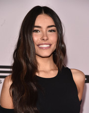 Madison Beer kept her beauty look simple with a glossy lip and barely-there eyeshadow.