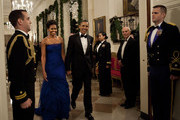 Michelle Obama Wears Vera Wang's Sapphire Chiffon Gown to the Kennedy Center Honors
