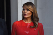 Melania Trump looked elegant with her loose side-parted 'do while attending a dinner during the State Visit to England.