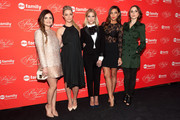 (L-R) Lucy Hale, Sasha Pieterse, Ashley Benson, Shay Mitchell, and Troian Bellisario attend the