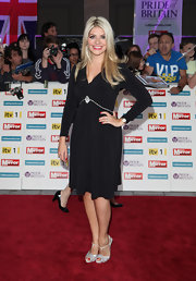 Holly Willoughby chose this classic LBD with long sleeves and a simple jeweled detailing under the bust.