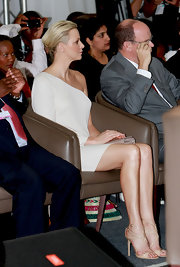 Charlene Wittstock wore a pair of nude strappy sandals at the One Billion Tree Campaign Gala.
