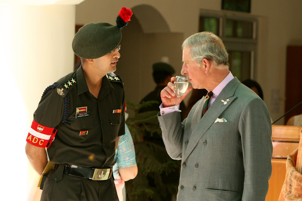 Prince Charles Men's Suit [military uniform,military officer,military rank,military person,military,army,uniform,soldier,official,police officer,prince charles,camilla visit,corps hq,officers,regiments,india,wales,trh,commonwealth games,visit]