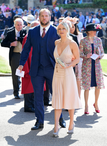 chloe madeley what celebrity guests wore to meghan markle and prince harry s wedding stylebistro celebrity guests wore to meghan markle