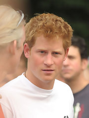 Prince Harry wore his hair in his signature style for the Hope and Possibility Race.