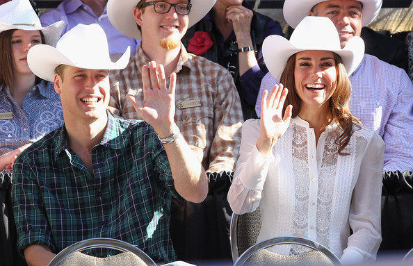 Prince William Cowboy Hat [people,event,hat,headgear,crowd,fun,fashion accessory,duke,prince william,duchess of cambridge,catherine,royal couple,duchess,canada,cambridge,canadian tour,tour]