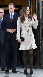 Prince William sported his classic black patent oxfords with his navy suit for his and Kate's visit to North Ireland.
