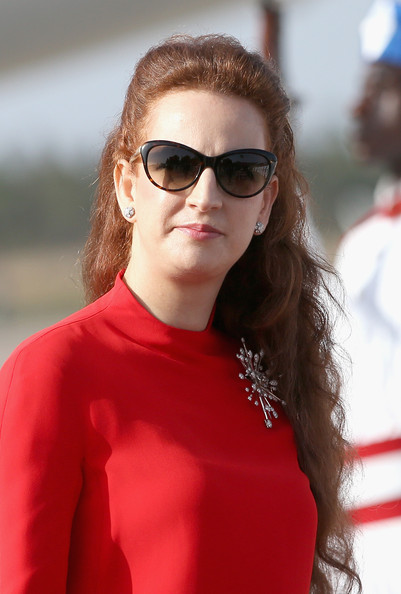 Princess Lalla Salma Diamond Brooch [king and queen,eyewear,hair,sunglasses,red,glasses,hairstyle,lip,beauty,vision care,street fashion,royals,princess,lalla salma of morocco,morocco,spanish,rabat airport,spain,visit]