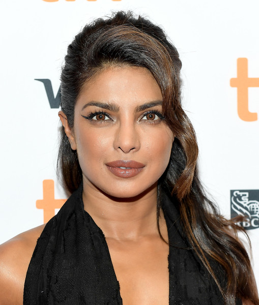 Priyanka Chopra Half Up Half Down