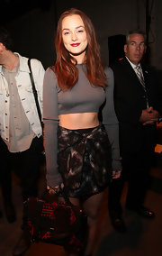 Leighton showcased her newly reddish locks while sitting front row at the Proenza Schouler show.