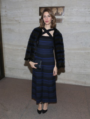 Sofia Coppola chose a striped, crisscross-neckline jumpsuit for Project Perpetual's inaugural auction.