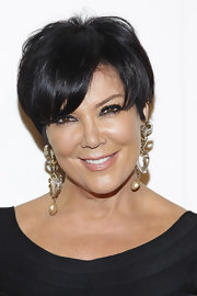 Kris Jenner wore her adorable 'do with long side-swept bangs at the QVC Red Carpet Cocktail Party.
