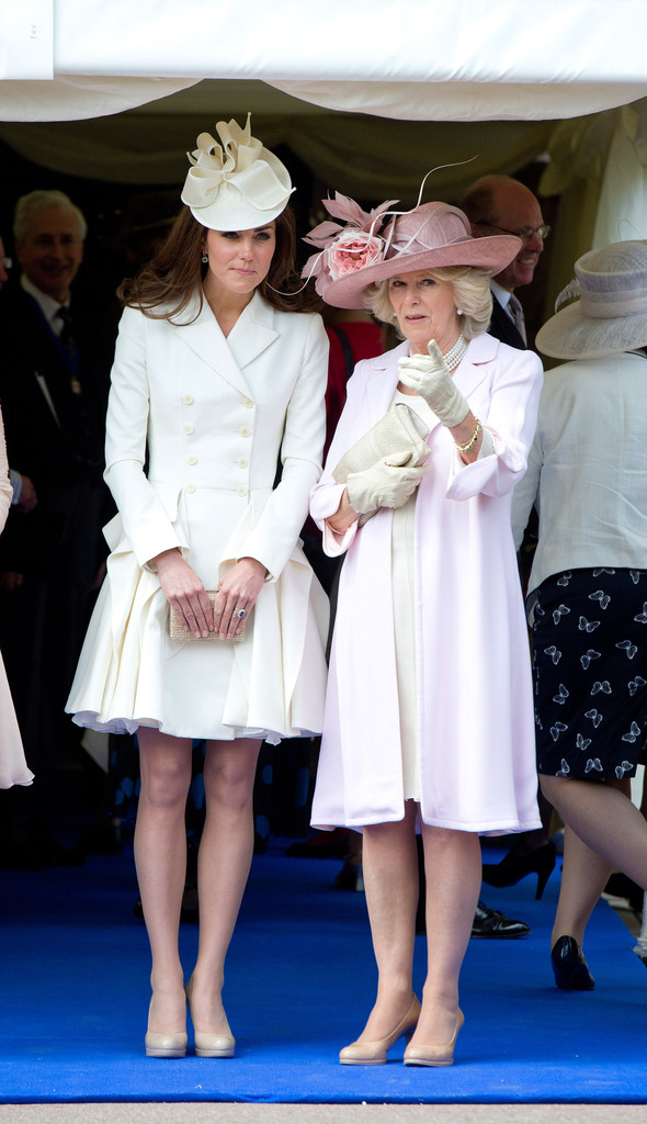 Kate+Middleton in Queen Elizabeth II and Members Of The Royal Family Attend The Order Of The Garter Service