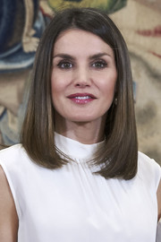 Queen Letizia of Spain sported a sleek lob while attending audiences at Zarzuela Palace.