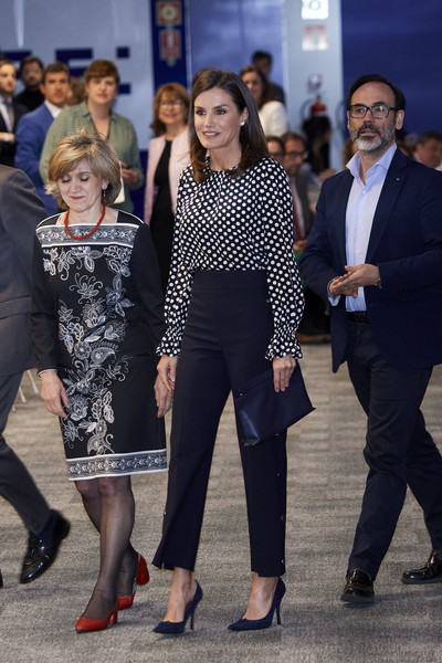More Pics of Queen Letizia of Spain Pumps (1 of 12) - Heels Lookbook - StyleBistro [letizia of spain attends,event related to mass media and mental health at efe agency headquarters,fashion,event,footwear,suit,dress,fashion design,white-collar worker,street fashion,tourism,performance,letizia of spain,april 03,c,spain,madrid,medios de comunicacion y salud mental,event in madrid]