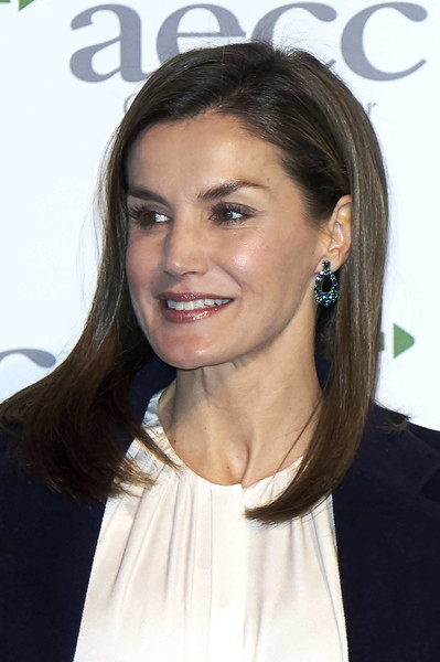 Queen Letizia of Spain Gemstone Hoops