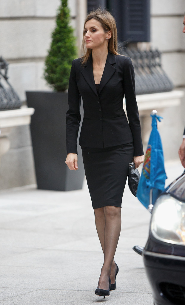 Queen Letizia Of Spain Skirt Suit Queen Letizia Of Spain