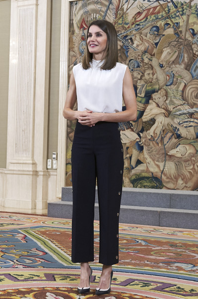 Queen Letizia of Spain Loose Top