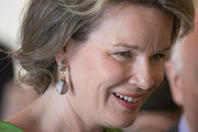 Queen Mathilde of Belgium Dangling Gemstone Earrings