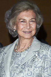 Queen Sofia attended the Reina Sofia Foundation Scholarships event wearing her hair in a ladylike bob.