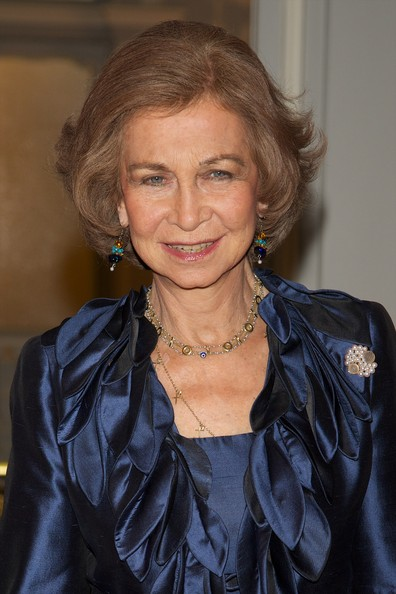 Queen Sofia Bob [constitution,1812 constitution,hair,hairstyle,blond,textile,leather,electric blue,smile,official,queen,sofia,tribute,spain,madrid,sofia of spain attends piano concert to pay tribute,academy of history,piano concert]