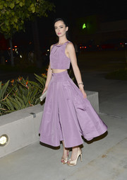 Krysten Ritter looked very girly in her voluminous lavender Katie Ermilio skirt at the Art of Van Cleef & Arpels event.