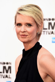 Cynthia Nixon attended the BFI London Film Festival screening of 'A Quiet Passion' wearing her usual short side-parted cut.