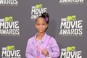 Quvenzhane Wallis Print Dress