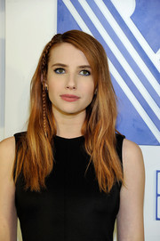 Emma Roberts channeled the '80s with her blue eyeliner.