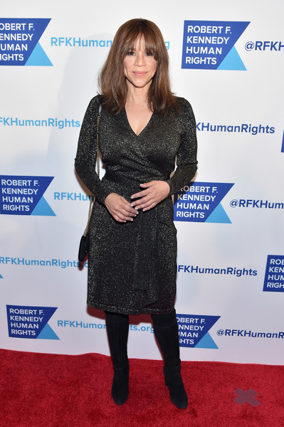 Rosie Perez kept it ageless in a black wrap dress at the Ripple of Hope Awards.