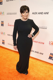 Kris Jenner went for a simple form-fitting black gown when she attended the Race to Erase MS Gala.