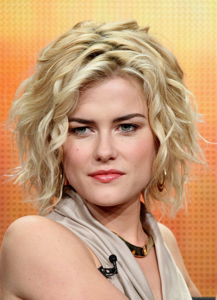 Rachael Taylor Short Wavy Cut [television show,charlies angels,hair,face,blond,hairstyle,eyebrow,chin,beauty,layered hair,lip,forehead,rachael taylor,the beverly hilton hotel,beverly hills,california,abc television group,disney,summer tca,portion]