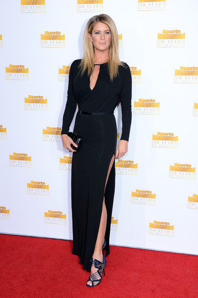 Rachel Hunter Evening Dress [red carpet,clothing,dress,carpet,little black dress,hairstyle,shoulder,premiere,leg,cocktail dress,rachel hunter,sports illustrated swimsuit issue,california,hollywood,dolby theatre,time inc,nbc]