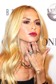 Along with her bracelet, Rachel Zoe wore a massive diamond ring and an equally chunky stacked gold ring.