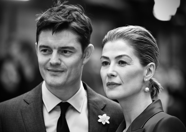 More Pics of Rosamund Pike Strappy Sandals (4 of 56) - Strappy Sandals Lookbook - StyleBistro [image,photograph,facial expression,black-and-white,monochrome photography,hairstyle,suit,forehead,smile,monochrome,photography,red carpet arrivals,sam riley,rosamund pike,england,london,radioactive uk,premiere,radioactive uk premiere,the curzon mayfair,black m,wedding,portrait,portrait photography,formal wear,photography,stx it20 risk.5rv nr eo,black,bridegroom,gentleman]
