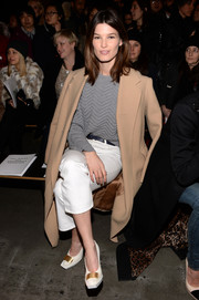 Hanneli Mustaparta kept it classic with this beige wool coat during the Rag & Bone fashion show.