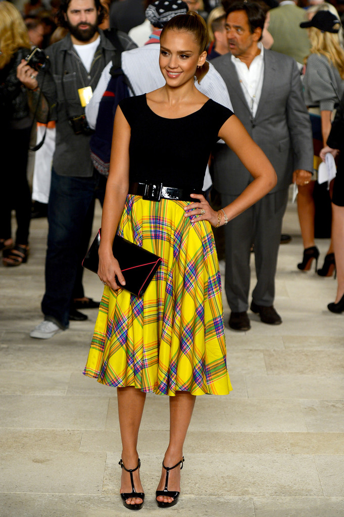 Actress Jessica Alba attends the Ralph Lauren Spring 2013 fashion show during Mercedes-Benz Fashion Week on September 13, 2012 in New York City.