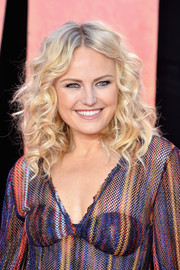 Malin Akerman looked fabulous with her high-volume curls at the European premiere of 'Rampage.'