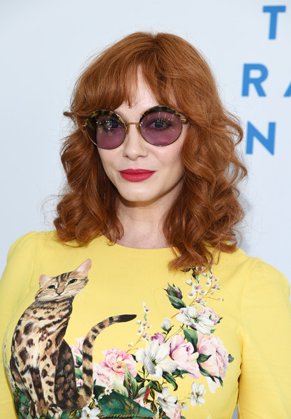 Christina Hendricks looked lovely wearing this curly 'do at the Rape Foundation brunch.