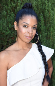 Susan Kelechi Watson styled her hair into a long braid for the Rape Foundation's annual brunch.