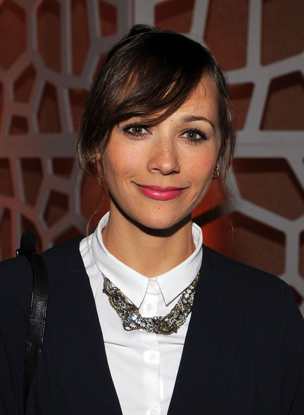 Rashida Jones Bright Lipstick