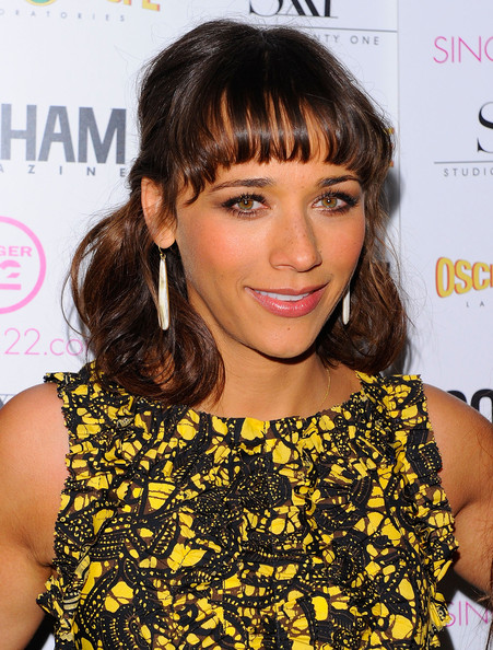 Rashida Jones Medium Curls with Bangs