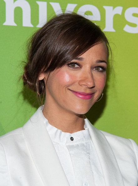 Rashida Jones Messy Updo