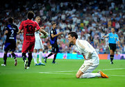 Cristiano rocked orange cleats at the Real Madrid game.