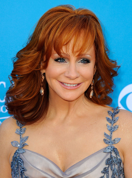 Reba McEntire Medium Curls with Bangs