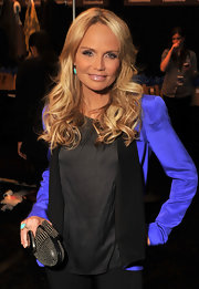 Kristin Chenoweth wore her hair down and casually tousled at the Rebecca Minkoff fall 2012 fashion show.