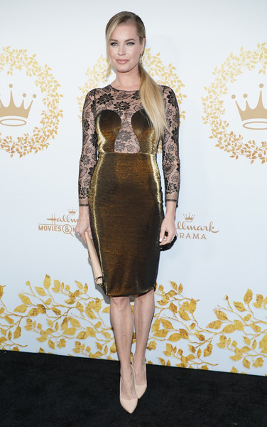 Rebecca Romijn Form-Fitting Dress [hallmark movies and mysteries - arrivals,clothing,dress,cocktail dress,fashion model,fashion,hairstyle,yellow,shoulder,little black dress,carpet,rebecca romjin,pasadena,california,tournament house,hallmark channel,winter tca tour,hallmark movies and mysteries 2019 winter tca tour,rebecca romijn,celebrity,hallmark channel,hallmark movies mysteries,hallmark,actor,photography,image]