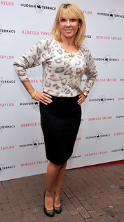 Ramona Singer wore a flattering black pencil skirt.
