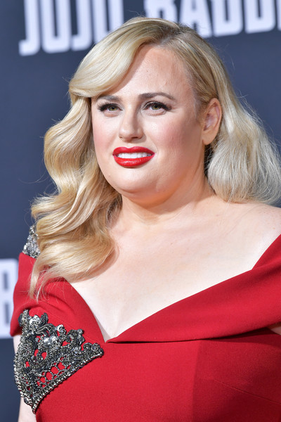 Rebel Wilson Long Wavy Cut [hair,face,blond,lip,hairstyle,eyebrow,chin,beauty,red,skin,arrivals,rebel wilson,jojo rabbit,california,los angeles,fox searchlights,premiere,premiere]