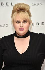 Rebel Wilson got majorly retro with this beehive during the Rebel Wilson x Angels collection launch.